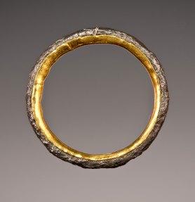Nick Grant Barnes - steel; 24k gold - wedding-band