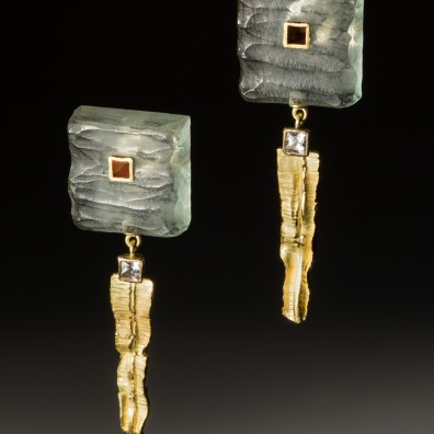 Carved Acrylite earrings