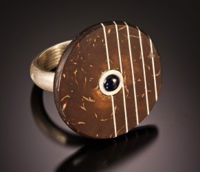 Carved Coconut bands/pendents/pins