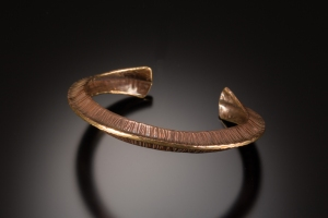 Fold formed and forged bracelet - workshop sample