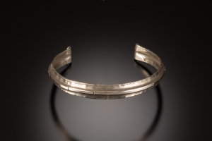 Fold formed and forged cuff bracelet - silver - workshop sample
