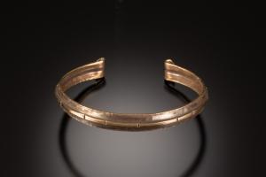 Fold formed and forged cuff bracelet - workshop sample