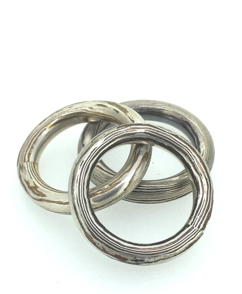 sterling copper mokume bands