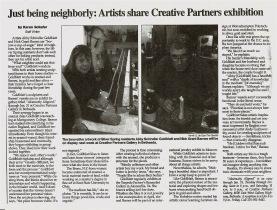 Creative Partners article - Gazette