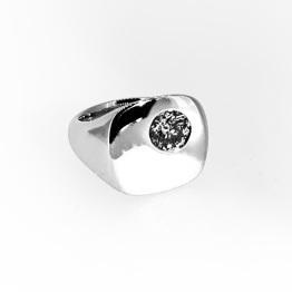 14K White Gold with .80ct diamond
