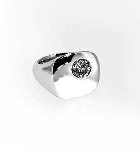 14K White Gold with .80ct diamond